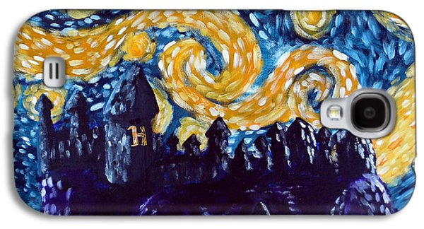 Starry Paintings Galaxy S4 Cases - Hogwarts Starry Night Galaxy S4 Case by Jera Sky