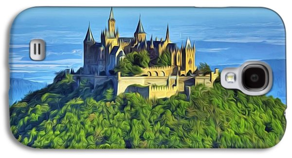 Knights Castle Paintings Galaxy S4 Cases - Hohenzollern castle Galaxy S4 Case by Lanjee Chee