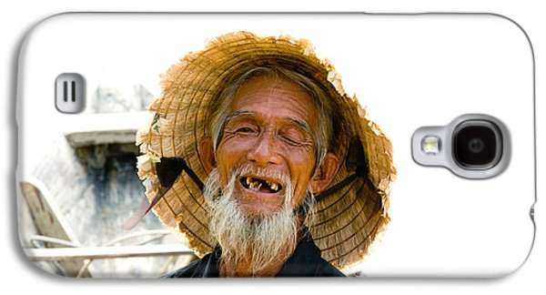 Posed Photographs Galaxy S4 Cases - Hoi An Fisherman Galaxy S4 Case by David Smith