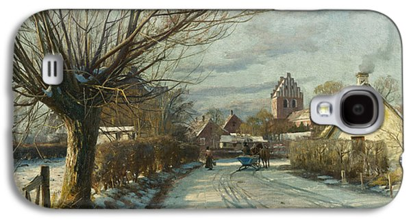 Sledding Galaxy S4 Cases - Hoje Taastrup Church Outside Copenhagen Galaxy S4 Case by Peder Monsted