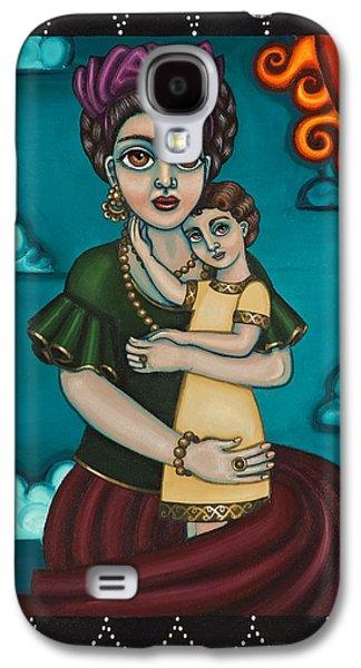 Diego Rivera Galaxy S4 Cases - Holding Diegito Galaxy S4 Case by Victoria De Almeida