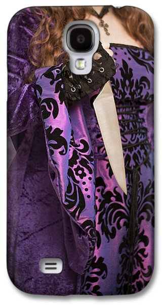 Gothic Galaxy S4 Cases - Holding Knife Galaxy S4 Case by Amanda And Christopher Elwell