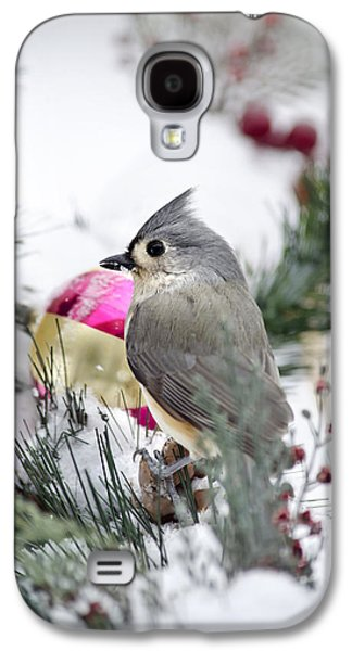 Holiday Cheer With A Titmouse Galaxy S4 Case by Christina Rollo