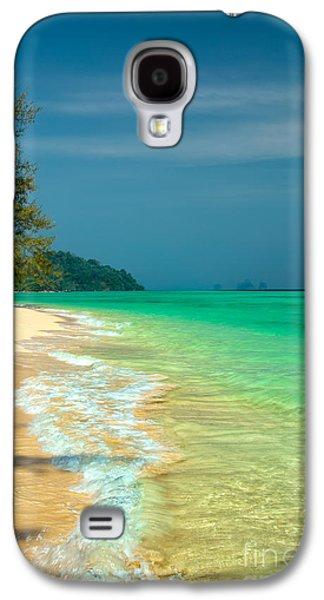Coastline Digital Art Galaxy S4 Cases - Holiday Destination Galaxy S4 Case by Adrian Evans