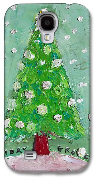 Becky Kim ist Paintings Galaxy S4 Cases - Holiday Greeting Galaxy S4 Case by Becky Kim