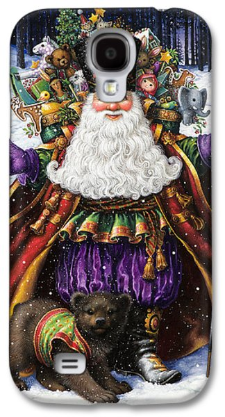 Santa Claus Paintings Galaxy S4 Cases - Holiday Riches Galaxy S4 Case by Lynn Bywaters