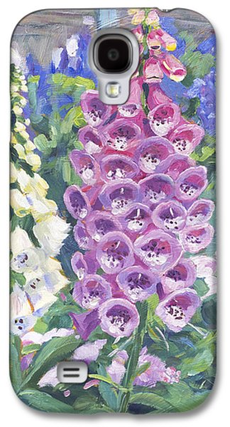 Gardenscapes Galaxy S4 Cases - Foxglove Galaxy S4 Case by David Lloyd Glover