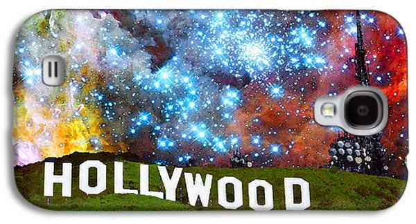 Big Screen Galaxy S4 Cases - Hollywood 2 - Home Of The Stars By Sharon Cummings Galaxy S4 Case by Sharon Cummings