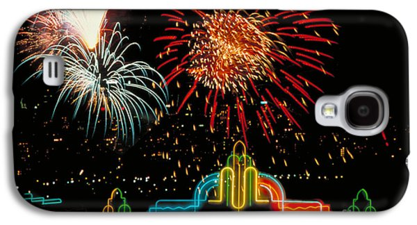 4th July Galaxy S4 Cases - Hollywood Fireworks Galaxy S4 Case by Carroll Seghers II