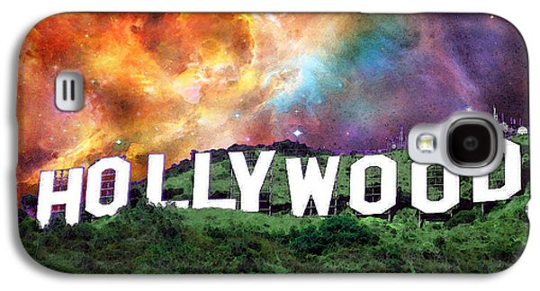 Big Screen Galaxy S4 Cases - Hollywood - Home of the Stars by Sharon Cummings Galaxy S4 Case by Sharon Cummings