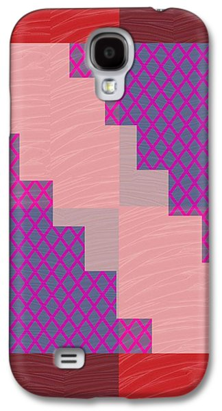 Business Galaxy S4 Cases - Holy Purple Diamond Pattern and Silken Light Crystal across Galaxy S4 Case by Navin Joshi