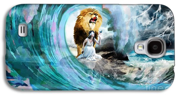 Storm Mixed Media Galaxy S4 Cases - Holy Roar Galaxy S4 Case by Dolores Develde