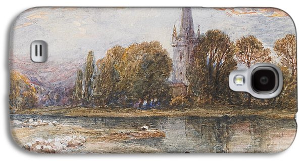Holy Galaxy S4 Cases - Holy Trinity Church on the banks if the River Avon Stratford upon Avon Galaxy S4 Case by Myles Birket Foster