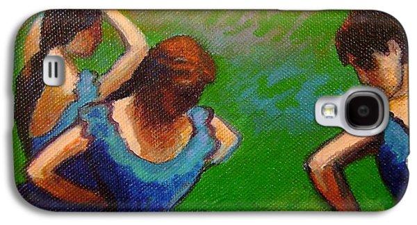 Tutus Paintings Galaxy S4 Cases - Homage to Degas II Galaxy S4 Case by John  Nolan