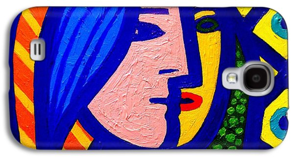 Wine Canvas Paintings Galaxy S4 Cases - Homage To Pablo Picasso Galaxy S4 Case by John  Nolan