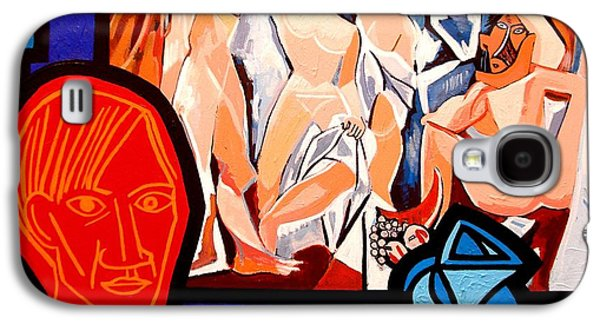 Crying Paintings Galaxy S4 Cases - Homage To Picasso I Galaxy S4 Case by John  Nolan