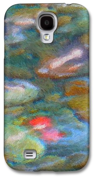 Colorful Abstract Galaxy S4 Cases - Homage to Van Gogh 1 Galaxy S4 Case by Carol Groenen