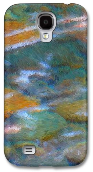 Nature Abstracts Galaxy S4 Cases - Homage to Van Gogh 2 Galaxy S4 Case by Carol Groenen