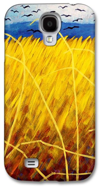 Crows Paintings Galaxy S4 Cases - Homage To Van Gogh   cropped Galaxy S4 Case by John  Nolan