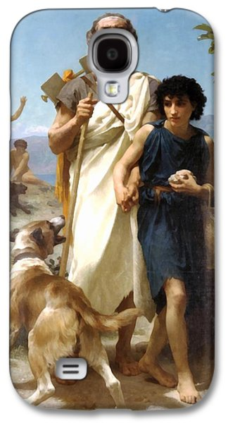 Dog Walking Digital Art Galaxy S4 Cases - Homer And His Guide Galaxy S4 Case by William Bouguereau