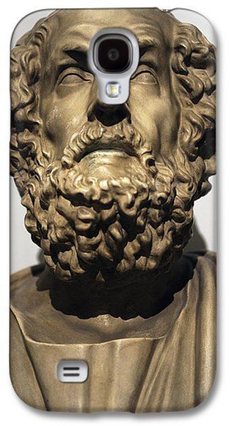 Statue Portrait Galaxy S4 Cases - Homer  Galaxy S4 Case by Greek School
