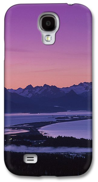 Spit Galaxy S4 Cases - Homer Spit Sunset Kenai Mtns Kenai Galaxy S4 Case by Jeff Schultz