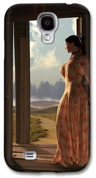 Remington Digital Galaxy S4 Cases - Homestead Woman Galaxy S4 Case by Daniel Eskridge