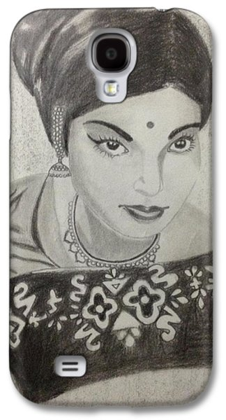Saviour Drawings Galaxy S4 Cases - Hon Chief Minister J.Jayalalitha Galaxy S4 Case by Anu Radha