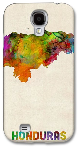 Map Galaxy S4 Cases - Honduras Watercolor Map Galaxy S4 Case by Michael Tompsett