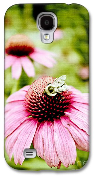 Original Art Photographs Galaxy S4 Cases - Honey Bee Galaxy S4 Case by Colleen Kammerer