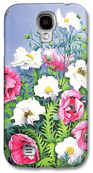 Pollinate Galaxy S4 Cases - Honey Bee, Honey Bee Oil On Canvas Galaxy S4 Case by Pat Scott