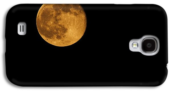 Man In The Moon Galaxy S4 Cases - Honey Moon Full Moon 2014 Galaxy S4 Case by Dan Sproul
