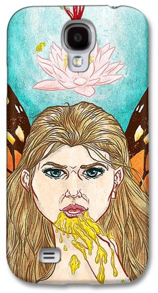 Fairies Mixed Media Galaxy S4 Cases - Honey Mouth Galaxy S4 Case by Baird Hoffmire