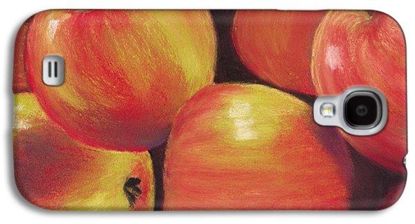 Still Life Pastels Galaxy S4 Cases - Honeycrisp Apples Galaxy S4 Case by Anastasiya Malakhova