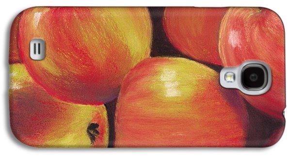Interior Still Life Pastels Galaxy S4 Cases - Honeycrisp Apples Galaxy S4 Case by Anastasiya Malakhova