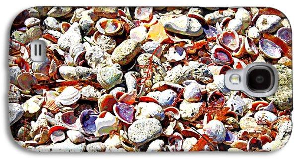 Seashell Digital Art Galaxy S4 Cases - Honeymoon Island Shells - Digital Art Galaxy S4 Case by Carol Groenen
