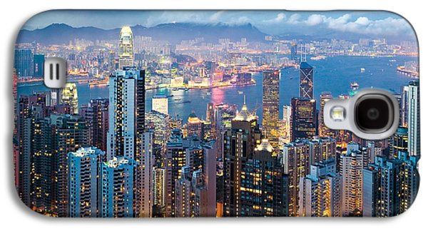 Best Sellers -  - Business Galaxy S4 Cases - Hong Kong at Dusk Galaxy S4 Case by Dave Bowman