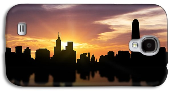 Hong Kong Sunset Skyline  Galaxy S4 Case by Aged Pixel