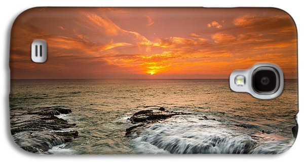 Top Seller Galaxy S4 Cases - Honolulu sunset Galaxy S4 Case by Tin Lung Chao