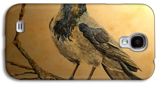 Crows Paintings Galaxy S4 Cases - Hooded Crow Galaxy S4 Case by Juan  Bosco
