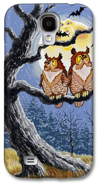 Man In The Moon Galaxy S4 Cases - Hooty Whos There Galaxy S4 Case by Richard De Wolfe
