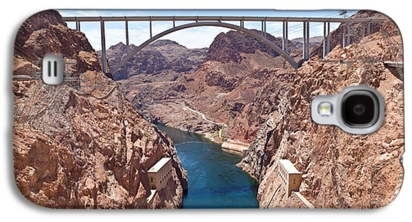 Built Structure Galaxy S4 Cases - Hoover Dam Canyonland And Bridge Galaxy S4 Case by Panoramic Images