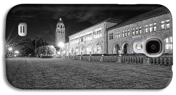 Quad Galaxy S4 Cases - Hoover Tower Stanford University Monochrome Galaxy S4 Case by Scott McGuire