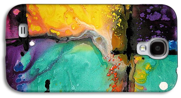 Abstract Landscape Galaxy S4 Cases - Hope - Colorful Abstract Art By Sharon Cummings Galaxy S4 Case by Sharon Cummings