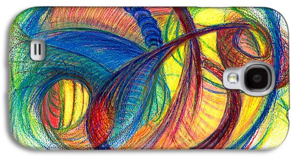 Abstract Movement Drawings Galaxy S4 Cases - Hope Fills the Holes Galaxy S4 Case by Kelly K H B