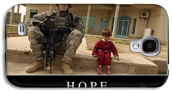 Iraq Posters Galaxy S4 Cases - Hope Inspirational Quote Galaxy S4 Case by Stocktrek Images