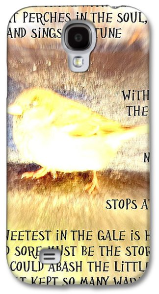 Implication Photographs Galaxy S4 Cases - Hope Is The Thing  Galaxy S4 Case by Hilde Widerberg