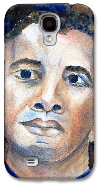 Barack Obama Galaxy S4 Cases - Hopeful - President-Elect Galaxy S4 Case by Carlin Blahnik