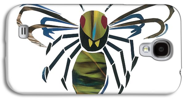Invertebrates Mixed Media Galaxy S4 Cases - Hornet Galaxy S4 Case by Earl ContehMorgan