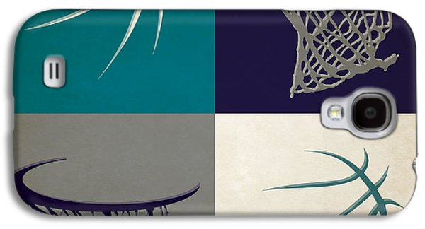 Charlotte Photographs Galaxy S4 Cases - Hornets Ball And Hoop Galaxy S4 Case by Joe Hamilton